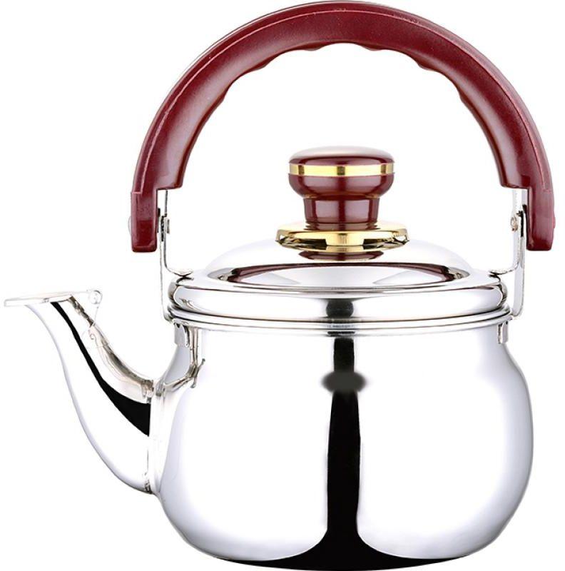 Чайник Wellberg Whistling, со свистком, 3 л391602Чайник Wellberg Whistling выполнен из высококачественной нержавеющей стали, что делает его весьма гигиеничным и устойчивым к износу при длительном использовании. Носик чайника оснащен свистком, что позволит вам контролировать процесс подогрева или кипячения воды. Подвижная ручка, выполненная из бакелита, дает дополнительное удобство при наливании напитка. Поверхность чайника гладкая, что облегчает уход за ним. Эстетичный и функциональный, с эксклюзивным дизайном, чайник будет оригинально смотреться в любом интерьере.Подходит для всех типов плит, кроме индукционных. Можно мыть в посудомоечной машине.