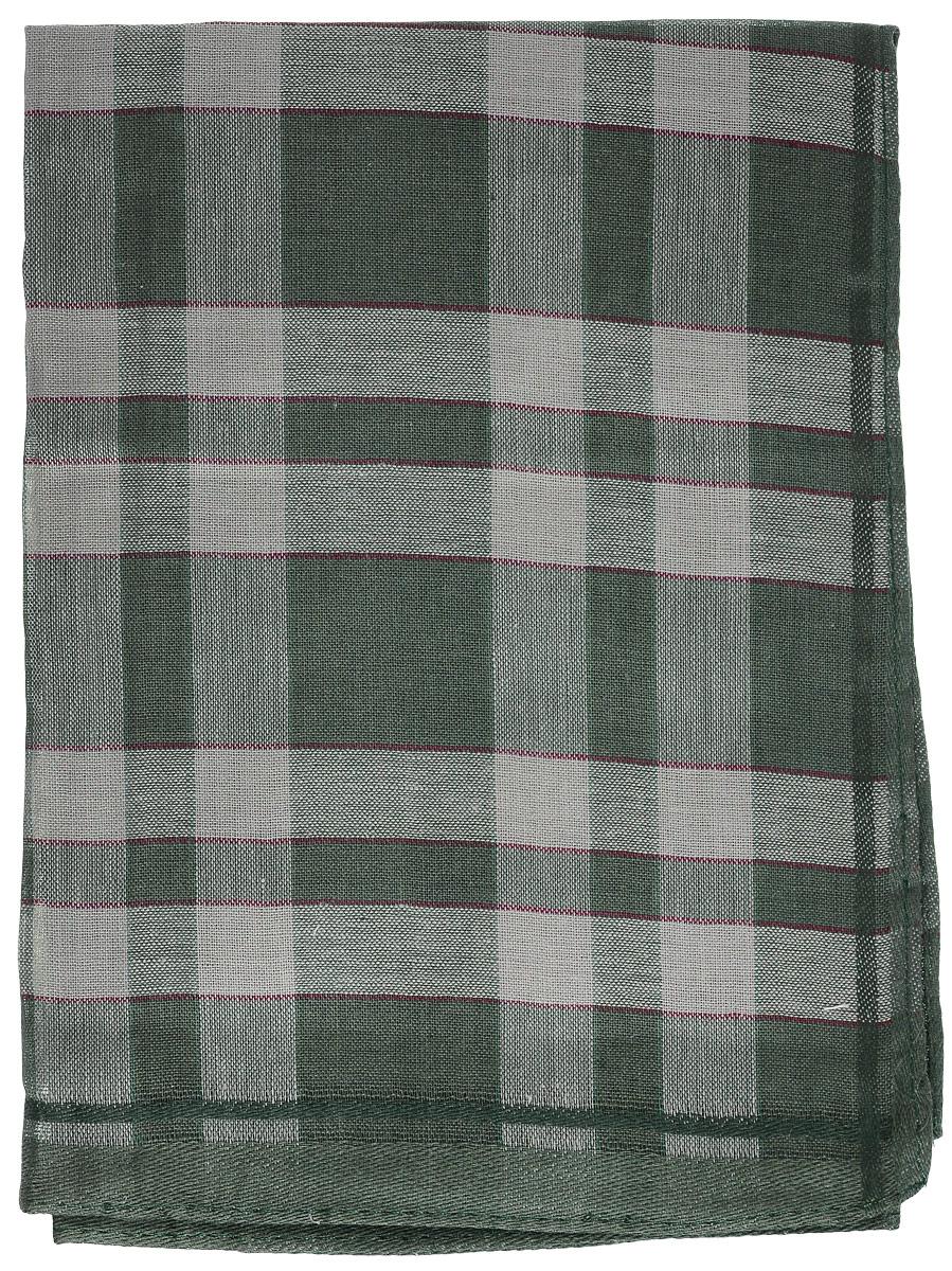 Платок носовой мужской Zlata Korunka, цвет: темно-зеленый, серый. 45495. Размер 37 см х 37 смБрошь-кулонМужской носовой платок Zlata Korunka, изготовленный из натурального хлопка, приятен в использовании и хорошо стирается. Материал не садится и отлично впитывает влагу. Модель оформлена оригинальным принтом.