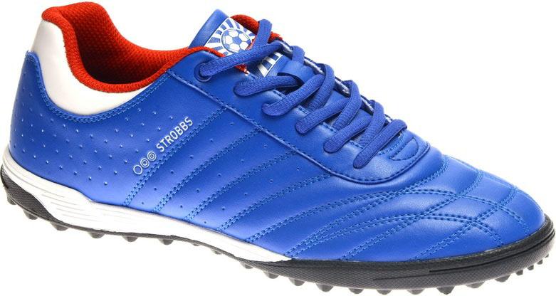 Бутсы мужские Strobbs, цвет: синий. C2436-22. Размер 42WVL710HB/BБутсы мужские Strobbs изготовлены из искусственной кожи. Внутренняя поверхность из текстиля обеспечивает комфорт во время движения. Шипованная резиновая подошва гарантирует отличное сцепление с поверхностью. Модель подходит для грунта и искусственного газона, а также для игр на жестких синтетических поверхностях. Шнуровка надежно фиксирует модель на ноге. Уважаемые клиенты! Обращаем ваше внимание, что модель маломерит на 1 размер. Учитывайте это при выборе размера.