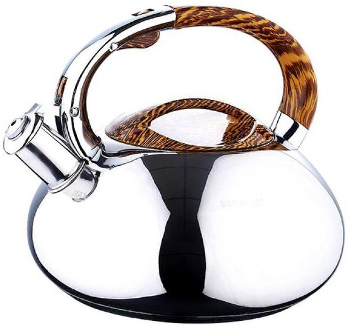Чайник металлический Wellberg со свистком, 3 л. 5861 WB115510Чайник металлический Wellberg со свистком, 3 л. 5861 WB