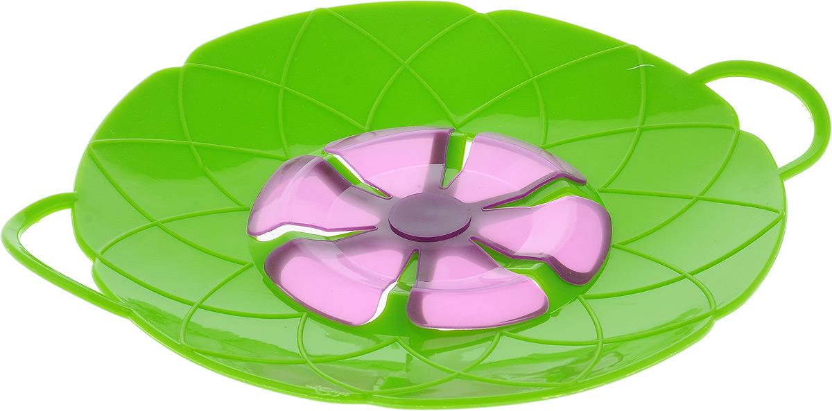 Крышка-невыкипайка Mayer & Boch, цвет: зеленый, фиолетовый, диаметр 25 см54 009312Крышка-невыкипайка Mayer & Boch изготовлена из термостойкого силикона высокого качества, поэтому не теряет формы при воздействии высоких температур. Подходит для посуды диаметром 15-30 см. Изделие предотвращает выкипание, защищает мебель и плиту от брызг масла при жарке продуктов, следовательно, ваша кухня всегда будет в чистоте. Вы даже можете оставлять без присмотра готовящуюся пищу. Молоко, макароны, картофель, супы, рис, каша - все продукты могут быть приготовлены на максимальной температуре. Крышку также можно использовать для приготовления пищи на пару. При хранении в прохладных местах крышка обеспечит свежесть продуктов. При использовании крышки в микроволновой печи масло не разбрызгивается.Можно мыть в посудомоечной машине, использовать в СВЧ и в холодильнике.