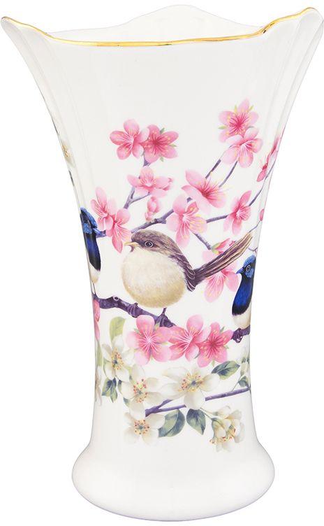 Ваза Elan Gallery Райские птички, 760 млFS-91909Декоративная ваза станет прекрасным дополнением любого интерьера. В такой вазе любой, даже самый скромный букет будет выглядеть замечательно!