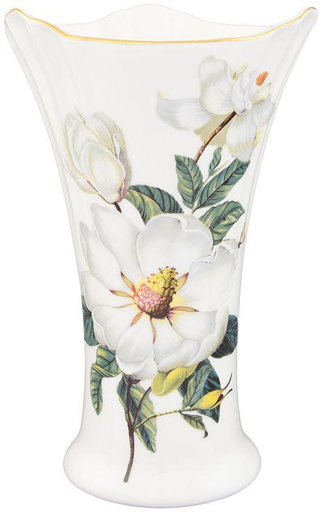 Ваза Elan Gallery Белый шиповник, высота 20 см008802Декоративная ваза станет прекрасным дополнением любого интерьера. В такой вазе любой, даже самый скромный букет будет выглядеть замечательно!Размер 12,5 х 12,5 х 20 см. Объем вазы: 760 мл.