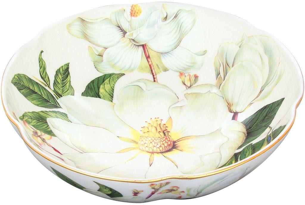 Конфетница-салатник Elan Gallery Белый шиповник, 1 л115510Изящная посуда, изготовленная из высококачественной керамики с нежным цветочным дизайном прекрасно дополнит интерьер Вашей кухни. А также станет отличным подарком Вашим друзьям и близким.