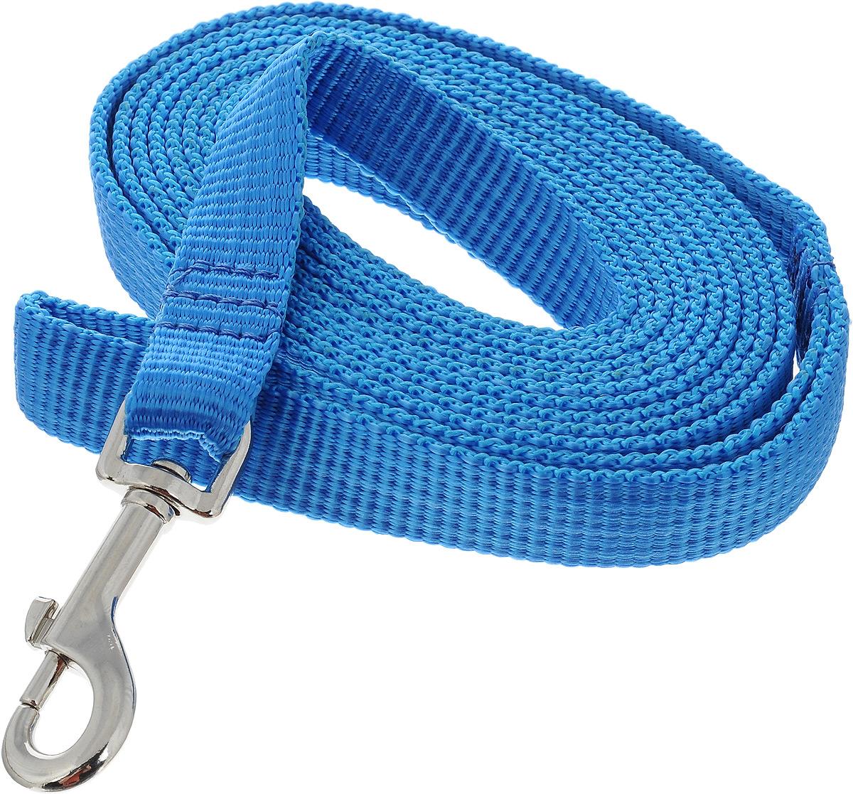 Поводок капроновый для собак Аркон, цвет: голубой, ширина 2 см, длина 3 м101246Поводок для собак Аркон изготовлен из высококачественного цветного капрона и снабжен металлическим карабином. Изделие отличается не только исключительной надежностью и удобством, но и привлекательным современным дизайном.Поводок - необходимый аксессуар для собаки. Ведь в опасных ситуациях именно он способен спасти жизнь вашему любимому питомцу. Иногда нужно ограничивать свободу своего четвероногого друга, чтобы защитить его или себя от неприятностей на прогулке. Длина поводка: 3 м.Ширина поводка: 2 см.Уважаемые клиенты! Обращаем ваше внимание на то, что товар может содержать светодиодную ленту.