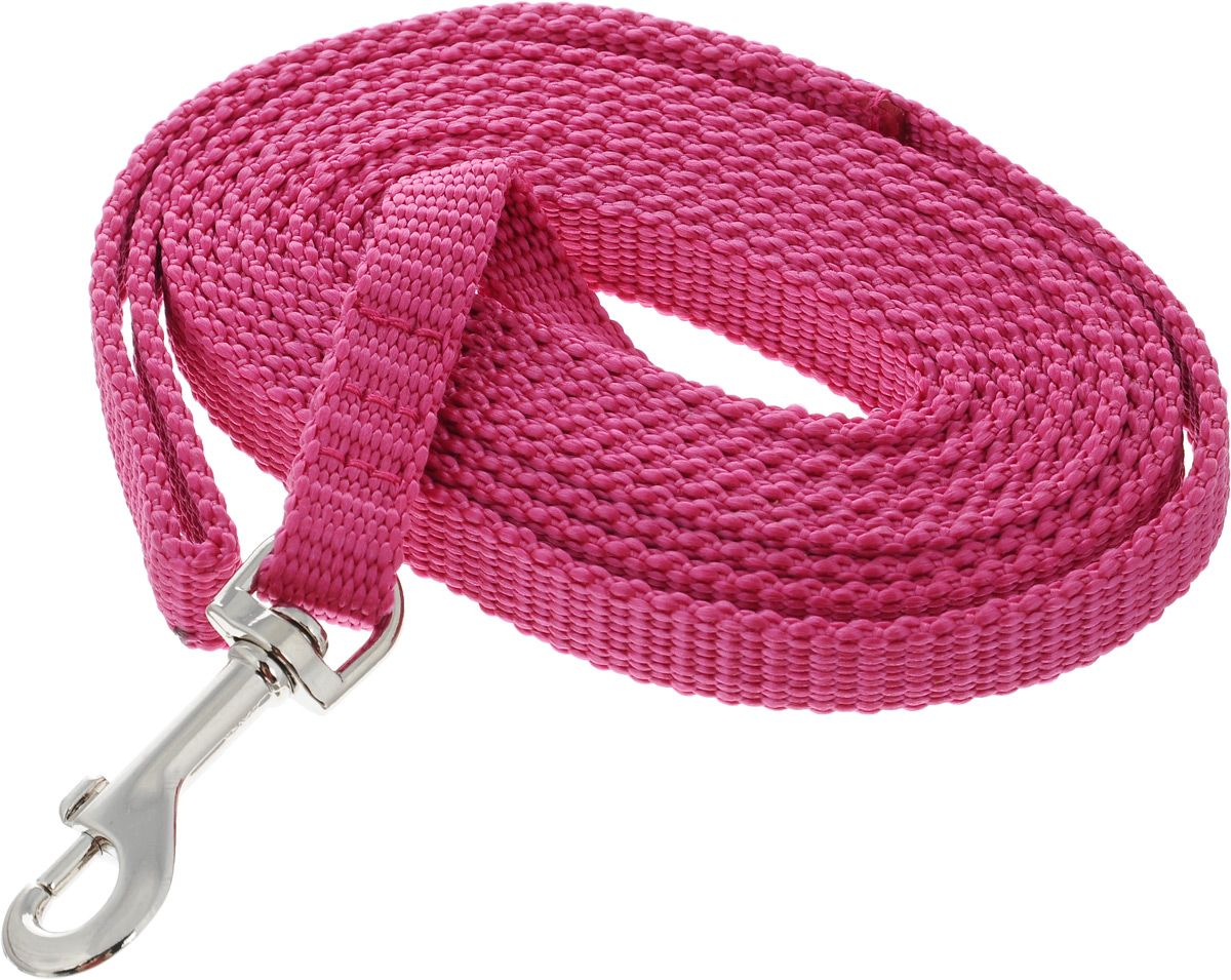 Поводок капроновый для собак Аркон, цвет: розовый, ширина 1,5 см, длина 3 м0120710Поводок для собак Аркон изготовлен из высококачественного цветного капрона и снабжен металлическим карабином. Изделие отличается не только исключительной надежностью и удобством, но и привлекательным современным дизайном.Поводок - необходимый аксессуар для собаки. Ведь в опасных ситуациях именно он способен спасти жизнь вашему любимому питомцу. Иногда нужно ограничивать свободу своего четвероногого друга, чтобы защитить его или себя от неприятностей на прогулке. Длина поводка: 3 м.Ширина поводка: 1,5 см.