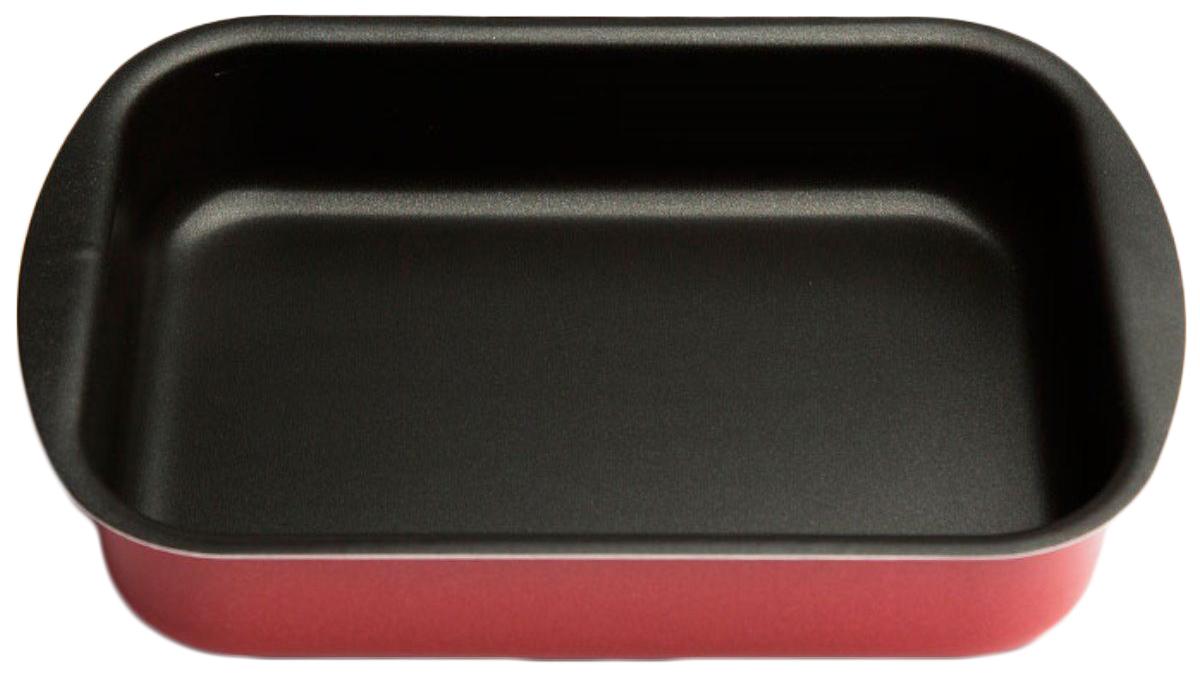 Противень Helper Comfort, с антипригарным покрытием, цвет: темно-красный, 395 х 270 ммFS-91909ПротивеньHelper Comfort изготовлен из штампованного алюминия .Благодаря удачному сочетанию функциональных свойств , противень позволяет готовить низкокалорийную пищу за счет использования минимального количества жиров.Он выполнен из алюминия, обладающего большой износостойкостью и надежностью, и не содержащего вредных для организма веществ (PFOA, кадмий, свинец). Внутреннее покрытие противня - Skandia.Технология антипригарного покрытия способствует оптимальному распределению тепла.Противень легко чистить и мыть.Подходит для использования в духовом шкафу, а также для мытья в посудомоечной машине.