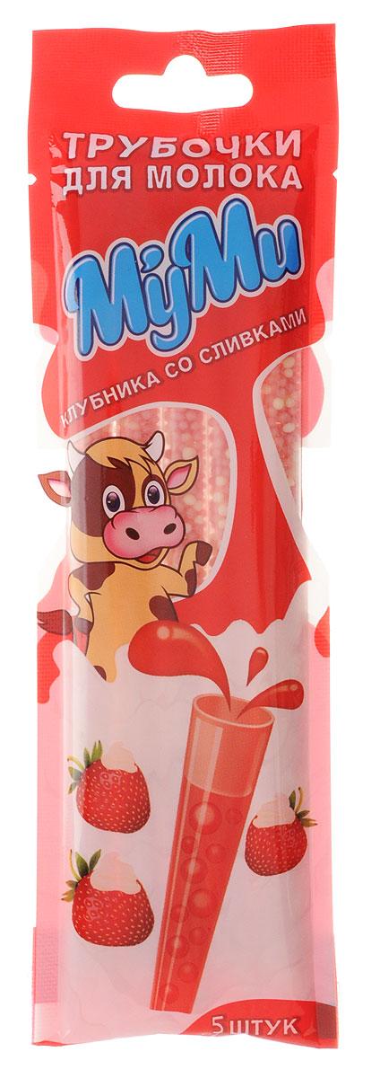 Лари Айс МуМи трубочка для молока со вкусом клубники со сливками, 30 г