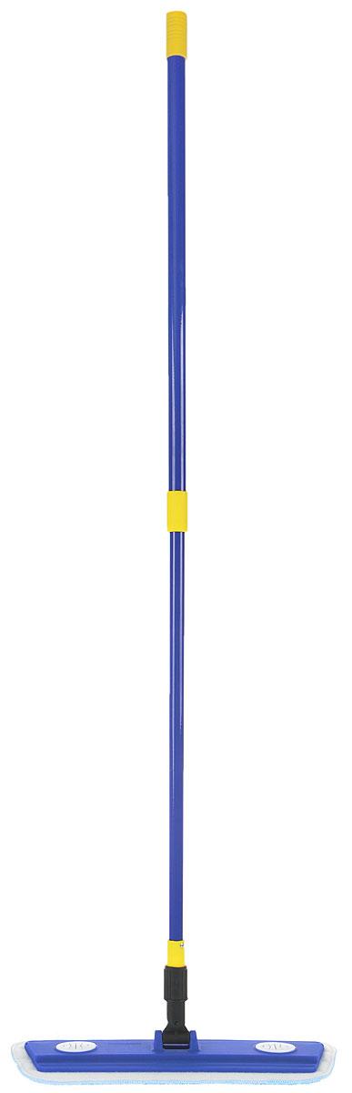 Швабра MONYA Микрофибра Люкс, с телескопической ручкой, 76-126 смМ 01Швабра MONYA Микрофибра Люкс предназначена для сухой и влажной уборки и подходит для мытья всех типов напольных поверхностей: паркет, ламинат, линолеум, кафельная плитка. Материал насадки - микрофибра, обладает высокой износостойкостью, не царапает поверхности и отлично впитывает влагу. Лента-липучка, закреплённая на швабре, позволяет быстро снимать и надевать насадку. Дополнительное крепление на швабре позволяет проводить уборку тряпкой из любого материала. Швабра оснащена телескопической ручкой из металла, она позволяет отрегулировать швабру по высоте для удобного использования.Длина ручки: 76-126 см. Размер насадки: 40 х 13,5 см.