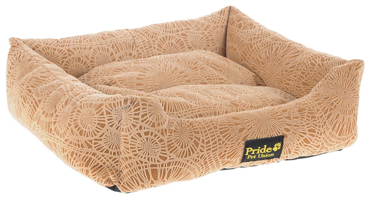 Лежак для животных Pride Фортуна, цвет: песочный, 52 х 41 х 10 смLM4090-001m_мятныйЛежак Pride Фортуна прекрасно подойдет для отдыха вашего домашнего питомца. Предназначен для собак средних пород и кошек. Изделие выполнено из прочных материалов высшего качества. Лежак оснащен съемным матрасиком. Комфортный и уютный лежак обязательно понравится вашему питомцу, животное сможет там отдохнуть и выспаться.
