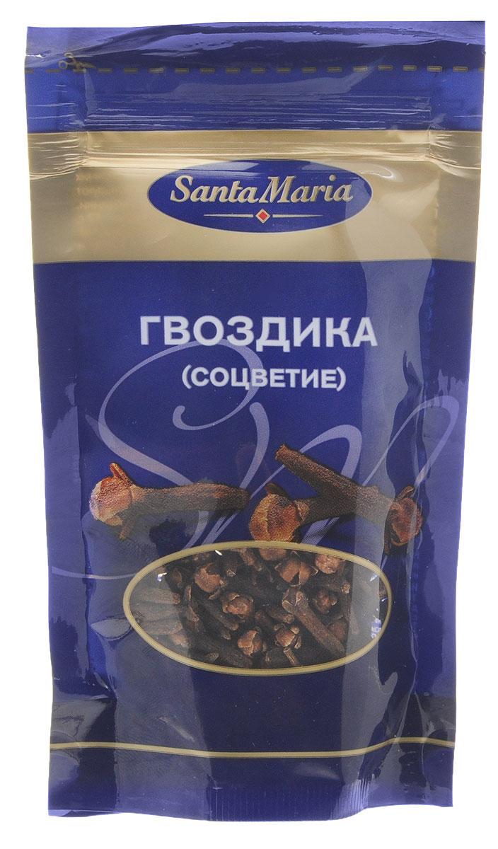 Santa Maria Гвоздика (соцветие), 10 г0120710Сочетание жгучести и аромата делают гвоздику очень пикантной пряностью. Жгучий вкус дает ножка соцветия, а аромат исходит от шляпки. Ее используют для маринования овощей, приготовления маринадов и горячих напитков. Гвоздику также можно добавлять к мясу, при выпечке, а также использовать для украшения блюд.Уважаемые клиенты! Обращаем ваше внимание на то, что упаковка может иметь несколько видов дизайна. Поставка осуществляется в зависимости от наличия на складе.