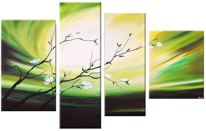 Картина Арт78 Веточка, модульная, 180 х 120 см. арт780048D_050Ничто так не облагораживает интерьер, как хорошая картина. Особенную атмосферу создаст крупное художественное полотно, размеры которого более метра. Подобные произведения искусства, выполненные в традиционной технике (холст, масляные краски), чрезвычайно капризны: требуют сложного ухода, регулярной реставрации, особого микроклимата – поэтому они просто не могут существовать в условиях обычной городской квартиры или загородного коттеджа, и требуют больших затрат. Данное полотно идеально приспособлено для создания изысканной обстановки именно у Вас. Это полотно создано с использованием как традиционных натуральных материалов (холст, подрамник - сосна), так и материалов нового поколения – краски, фактурный гель (придающий картине внешний вид масляной живописи, и защищающий ее от внешнего воздействия). Благодаря такой композиции, картина выглядит абсолютно естественно, и отличить ее от традиционной техники может только специалист. Но при этом изображение отлично смотрится с любого расстояния, под любым углом и при любом освещении. Картина не выцветает, хорошо переносит даже повышенный уровень влажности. При необходимости ее можно протереть сухой салфеткой из мягкой ткани.
