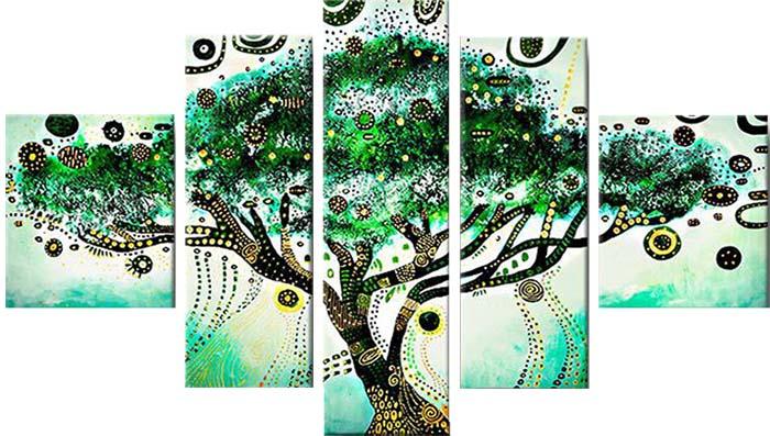 Картина Арт78 Дерево желаний, модульная, 200 х 120 см. арт78008344440Ничто так не облагораживает интерьер, как хорошая картина. Особенную атмосферу создаст крупное художественное полотно, размеры которого более метра. Подобные произведения искусства, выполненные в традиционной технике (холст, масляные краски), чрезвычайно капризны: требуют сложного ухода, регулярной реставрации, особого микроклимата – поэтому они просто не могут существовать в условиях обычной городской квартиры или загородного коттеджа, и требуют больших затрат. Данное полотно идеально приспособлено для создания изысканной обстановки именно у Вас. Это полотно создано с использованием как традиционных натуральных материалов (холст, подрамник - сосна), так и материалов нового поколения – краски, фактурный гель (придающий картине внешний вид масляной живописи, и защищающий ее от внешнего воздействия). Благодаря такой композиции, картина выглядит абсолютно естественно, и отличить ее от традиционной техники может только специалист. Но при этом изображение отлично смотрится с любого расстояния, под любым углом и при любом освещении. Картина не выцветает, хорошо переносит даже повышенный уровень влажности. При необходимости ее можно протереть сухой салфеткой из мягкой ткани.