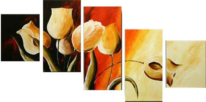 Картина Арт78 Белые тюльпаны, модульная, 170 х 120 см. арт780085С_009Ничто так не облагораживает интерьер, как хорошая картина. Особенную атмосферу создаст крупное художественное полотно, размеры которого более метра. Подобные произведения искусства, выполненные в традиционной технике (холст, масляные краски), чрезвычайно капризны: требуют сложного ухода, регулярной реставрации, особого микроклимата – поэтому они просто не могут существовать в условиях обычной городской квартиры или загородного коттеджа, и требуют больших затрат. Данное полотно идеально приспособлено для создания изысканной обстановки именно у Вас. Это полотно создано с использованием как традиционных натуральных материалов (холст, подрамник - сосна), так и материалов нового поколения – краски, фактурный гель (придающий картине внешний вид масляной живописи, и защищающий ее от внешнего воздействия). Благодаря такой композиции, картина выглядит абсолютно естественно, и отличить ее от традиционной техники может только специалист. Но при этом изображение отлично смотрится с любого расстояния, под любым углом и при любом освещении. Картина не выцветает, хорошо переносит даже повышенный уровень влажности. При необходимости ее можно протереть сухой салфеткой из мягкой ткани.