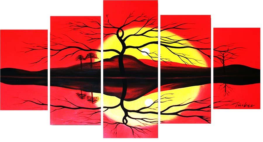 Картина Арт78 Закат, модульная, 200 х 120 см. арт780091V-194Ничто так не облагораживает интерьер, как хорошая картина. Особенную атмосферу создаст крупное художественное полотно, размеры которого более метра. Подобные произведения искусства, выполненные в традиционной технике (холст, масляные краски), чрезвычайно капризны: требуют сложного ухода, регулярной реставрации, особого микроклимата – поэтому они просто не могут существовать в условиях обычной городской квартиры или загородного коттеджа, и требуют больших затрат. Данное полотно идеально приспособлено для создания изысканной обстановки именно у Вас. Это полотно создано с использованием как традиционных натуральных материалов (холст, подрамник - сосна), так и материалов нового поколения – краски, фактурный гель (придающий картине внешний вид масляной живописи, и защищающий ее от внешнего воздействия). Благодаря такой композиции, картина выглядит абсолютно естественно, и отличить ее от традиционной техники может только специалист. Но при этом изображение отлично смотрится с любого расстояния, под любым углом и при любом освещении. Картина не выцветает, хорошо переносит даже повышенный уровень влажности. При необходимости ее можно протереть сухой салфеткой из мягкой ткани.