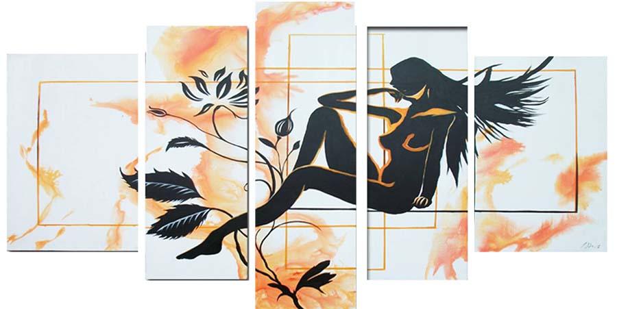 Картина Арт78 Девушка и цветок, модульная, 200 х 120 см. арт78009644438Ничто так не облагораживает интерьер, как хорошая картина. Особенную атмосферу создаст крупное художественное полотно, размеры которого более метра. Подобные произведения искусства, выполненные в традиционной технике (холст, масляные краски), чрезвычайно капризны: требуют сложного ухода, регулярной реставрации, особого микроклимата – поэтому они просто не могут существовать в условиях обычной городской квартиры или загородного коттеджа, и требуют больших затрат. Данное полотно идеально приспособлено для создания изысканной обстановки именно у Вас. Это полотно создано с использованием как традиционных натуральных материалов (холст, подрамник - сосна), так и материалов нового поколения – краски, фактурный гель (придающий картине внешний вид масляной живописи, и защищающий ее от внешнего воздействия). Благодаря такой композиции, картина выглядит абсолютно естественно, и отличить ее от традиционной техники может только специалист. Но при этом изображение отлично смотрится с любого расстояния, под любым углом и при любом освещении. Картина не выцветает, хорошо переносит даже повышенный уровень влажности. При необходимости ее можно протереть сухой салфеткой из мягкой ткани.
