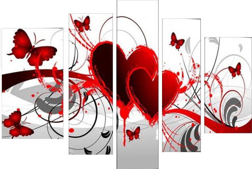 Картина Арт78 Сердце, модульная, 110 см х 60 см. арт780001-312723Ничто так не облагораживает интерьер, как хорошая картина. Особенную атмосферу создаст крупное художественное полотно, размеры которого более метра. Подобные произведения искусства, выполненные в традиционной технике (холст, масляные краски), чрезвычайно капризны: требуют сложного ухода, регулярной реставрации, особого микроклимата – поэтому они просто не могут существовать в условиях обычной городской квартиры или загородного коттеджа, и требуют больших затрат. Данное полотно идеально приспособлено для создания изысканной обстановки именно у Вас. Это полотно создано с использованием как традиционных натуральных материалов (холст, подрамник - сосна), так и материалов нового поколения – краски, фактурный гель (придающий картине внешний вид масляной живописи, и защищающий ее от внешнего воздействия). Благодаря такой композиции, картина выглядит абсолютно естественно, и отличить ее от традиционной техники может только специалист. Но при этом изображение отлично смотрится с любого расстояния, под любым углом и при любом освещении. Картина не выцветает, хорошо переносит даже повышенный уровень влажности. При необходимости ее можно протереть сухой салфеткой из мягкой ткани.