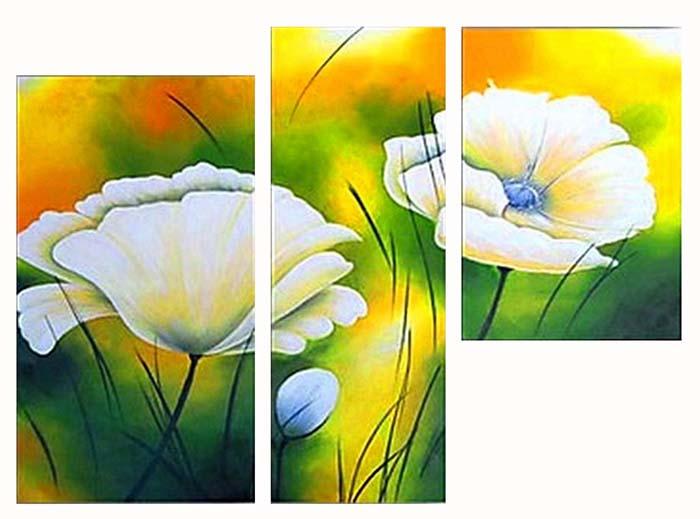 Картина Арт78 Цветок, модульная, 90 х 60 см. арт780049-3RG-D31SНичто так не облагораживает интерьер, как хорошая картина. Особенную атмосферу создаст крупное художественное полотно, размеры которого более метра. Подобные произведения искусства, выполненные в традиционной технике (холст, масляные краски), чрезвычайно капризны: требуют сложного ухода, регулярной реставрации, особого микроклимата – поэтому они просто не могут существовать в условиях обычной городской квартиры или загородного коттеджа, и требуют больших затрат. Данное полотно идеально приспособлено для создания изысканной обстановки именно у Вас. Это полотно создано с использованием как традиционных натуральных материалов (холст, подрамник - сосна), так и материалов нового поколения – краски, фактурный гель (придающий картине внешний вид масляной живописи, и защищающий ее от внешнего воздействия). Благодаря такой композиции, картина выглядит абсолютно естественно, и отличить ее от традиционной техники может только специалист. Но при этом изображение отлично смотрится с любого расстояния, под любым углом и при любом освещении. Картина не выцветает, хорошо переносит даже повышенный уровень влажности. При необходимости ее можно протереть сухой салфеткой из мягкой ткани.