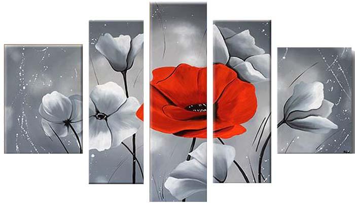 Картина Арт78 Красный мак, модульная, 135 х 90 см. арт780075-2D_054Ничто так не облагораживает интерьер, как хорошая картина. Особенную атмосферу создаст крупное художественное полотно, размеры которого более метра. Подобные произведения искусства, выполненные в традиционной технике (холст, масляные краски), чрезвычайно капризны: требуют сложного ухода, регулярной реставрации, особого микроклимата – поэтому они просто не могут существовать в условиях обычной городской квартиры или загородного коттеджа, и требуют больших затрат. Данное полотно идеально приспособлено для создания изысканной обстановки именно у Вас. Это полотно создано с использованием как традиционных натуральных материалов (холст, подрамник - сосна), так и материалов нового поколения – краски, фактурный гель (придающий картине внешний вид масляной живописи, и защищающий ее от внешнего воздействия). Благодаря такой композиции, картина выглядит абсолютно естественно, и отличить ее от традиционной техники может только специалист. Но при этом изображение отлично смотрится с любого расстояния, под любым углом и при любом освещении. Картина не выцветает, хорошо переносит даже повышенный уровень влажности. При необходимости ее можно протереть сухой салфеткой из мягкой ткани.