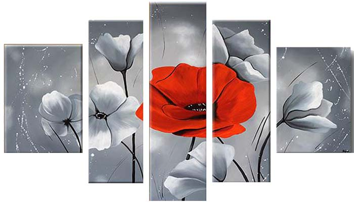 Картина Арт78 Красный мак, модульная, 90 х 60 см. арт780075-3V-071Ничто так не облагораживает интерьер, как хорошая картина. Особенную атмосферу создаст крупное художественное полотно, размеры которого более метра. Подобные произведения искусства, выполненные в традиционной технике (холст, масляные краски), чрезвычайно капризны: требуют сложного ухода, регулярной реставрации, особого микроклимата – поэтому они просто не могут существовать в условиях обычной городской квартиры или загородного коттеджа, и требуют больших затрат. Данное полотно идеально приспособлено для создания изысканной обстановки именно у Вас. Это полотно создано с использованием как традиционных натуральных материалов (холст, подрамник - сосна), так и материалов нового поколения – краски, фактурный гель (придающий картине внешний вид масляной живописи, и защищающий ее от внешнего воздействия). Благодаря такой композиции, картина выглядит абсолютно естественно, и отличить ее от традиционной техники может только специалист. Но при этом изображение отлично смотрится с любого расстояния, под любым углом и при любом освещении. Картина не выцветает, хорошо переносит даже повышенный уровень влажности. При необходимости ее можно протереть сухой салфеткой из мягкой ткани.
