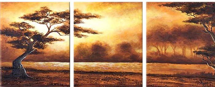 Картина Арт78 Лес, модульная, 120 х 60 см. арт780080-2D_053Ничто так не облагораживает интерьер, как хорошая картина. Особенную атмосферу создаст крупное художественное полотно, размеры которого более метра. Подобные произведения искусства, выполненные в традиционной технике (холст, масляные краски), чрезвычайно капризны: требуют сложного ухода, регулярной реставрации, особого микроклимата – поэтому они просто не могут существовать в условиях обычной городской квартиры или загородного коттеджа, и требуют больших затрат. Данное полотно идеально приспособлено для создания изысканной обстановки именно у Вас. Это полотно создано с использованием как традиционных натуральных материалов (холст, подрамник - сосна), так и материалов нового поколения – краски, фактурный гель (придающий картине внешний вид масляной живописи, и защищающий ее от внешнего воздействия). Благодаря такой композиции, картина выглядит абсолютно естественно, и отличить ее от традиционной техники может только специалист. Но при этом изображение отлично смотрится с любого расстояния, под любым углом и при любом освещении. Картина не выцветает, хорошо переносит даже повышенный уровень влажности. При необходимости ее можно протереть сухой салфеткой из мягкой ткани.