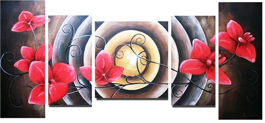 Картина Арт78 Красная орхидея, модульная, 90 х 50 см. арт780100-3арт780059-3Ничто так не облагораживает интерьер, как хорошая картина. Особенную атмосферу создаст крупное художественное полотно, размеры которого более метра. Подобные произведения искусства, выполненные в традиционной технике (холст, масляные краски), чрезвычайно капризны: требуют сложного ухода, регулярной реставрации, особого микроклимата – поэтому они просто не могут существовать в условиях обычной городской квартиры или загородного коттеджа, и требуют больших затрат. Данное полотно идеально приспособлено для создания изысканной обстановки именно у Вас. Это полотно создано с использованием как традиционных натуральных материалов (холст, подрамник - сосна), так и материалов нового поколения – краски, фактурный гель (придающий картине внешний вид масляной живописи, и защищающий ее от внешнего воздействия). Благодаря такой композиции, картина выглядит абсолютно естественно, и отличить ее от традиционной техники может только специалист. Но при этом изображение отлично смотрится с любого расстояния, под любым углом и при любом освещении. Картина не выцветает, хорошо переносит даже повышенный уровень влажности. При необходимости ее можно протереть сухой салфеткой из мягкой ткани.