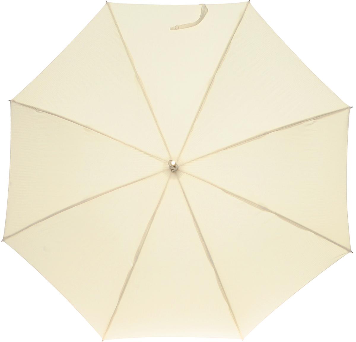 Зонт-трость женский Vogue, цвет: бежевый. 103 V45100738/18076/4D00NСтильный зонт-трость Vouge даже в ненастную погоду позволит вам оставаться стильной и элегантной. Каркас зонта выполнен из восьми металлических спиц, удобная закругленная рукоятка из искусственной кожи с лаковым покрытием. К ручке крепится съемный шнурок с декоративной кисточкой. Купол зонта выполнен из полиэстера. Зонт механического сложения: купол открывается и закрывается вручную до характерного щелчка Характеристики: Материал: полиэстер, пластик, металл. Цвет:бежевый. Производитель:Испания. Артикул: 103 V.