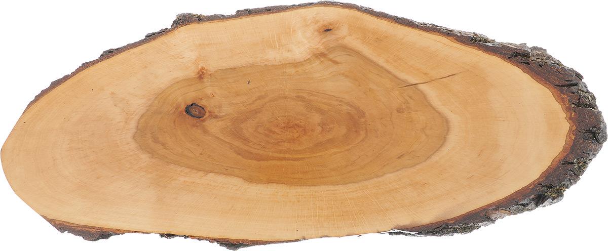 Доска сервировочная Kesper, 59 х 23 х 2 смMT-3735 EДоска сервировочная Kesper выполнена из натурального, экологически чистого материала (ольха) в виде среза дерева. Специальная обработка обеспечивает прочность и долгий срок службы. Изделие имеет нестандартную форму, обладает высокими антибактериальными свойствами, имеет приятный древесный аромат. Доска идеально подойдет для красивой подачи ваших кулинарных шедевров. Ее размер и форма позволяют подавать мясные блюда, нарезки, холодные или горячие закуски, идеальный вариант для суши. Эта доска станет настоящим украшением и изюминкой вашей кухни. Не рекомендуется мыть в посудомоечной машине.