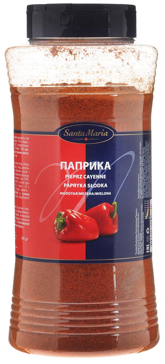Santa Maria Паприка молотая, 480 г17144Паприка обладает мягким сладковатым вкусом. При нагревании придает блюдам ярко - красный цвет и насыщенный аромат. Прекрасно сочетается с мясом, птицей, овощами.Упаковка может иметь несколько видов дизайна. Поставка осуществляется взависимости от наличия на складе.
