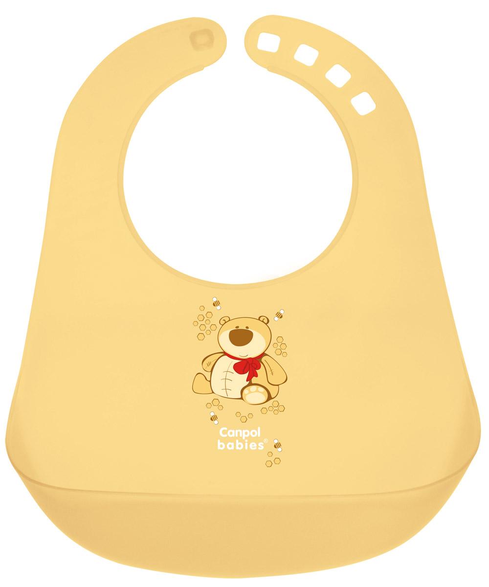Canpol BabiesНагрудник пластиковый цвет желтый
