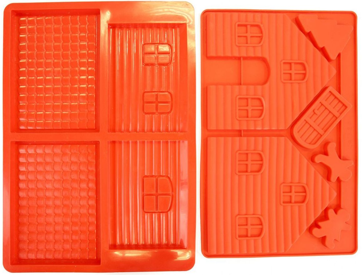 Форма для выпечки Bradex Пряничный домик, цвет: красный форма для выпечки имбирный домик