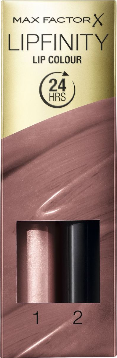 Max Factor Стойкая Губная Помада И Увлажняющий Блеск Lipfinity Essential 350 тон 2,3 млSatin Hair 7 BR730MNMaxFactor стойкая губная помада и увлажняющий блескLipfinity— оригинальная, обновленная стойкая губная помада с двухступенчатым нанесением для привлекательных губ на весь день. Оставляет впечатление надолго. Lipfinity: чувственные, модные оттенки, которые держатся весь день. Будь в центре внимания благодаря насыщенному цвету, который остается на губах до 24часов.ФормулаБлеск для губ и бальзам создают великолепный цвет и придают блеск, которые держатся до 24часов. Новый аппликатор для яркого, насыщенного цвета, который сохраняется на губах весь день.
