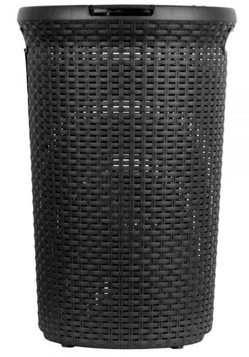 Корзина для белья Curver Style, цвет: темно-коричневый, 48 л531-105Практичная корзина для белья Curver Style это идеальный выбор для тех, кто ценит эстетику и комфорт. Изделие выполнено из прочного пластика. Привлекательный внешний вид, стилизованный под ротанг, позволяет создать интерьер помещения в соответствии с последними тенденциями. Перфорация обеспечивает циркуляцию воздуха. Благодаря трем ручкам корзина удобна для переноски.