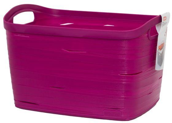 Корзина универсальная Curver Ribbon, цвет: фиолетовый, 38 x 29 x 24 см1004900000360Универсальная корзина Curver Ribbon изготовлена из высококачественного пластика. Стенки оформлены перфорацией.Корзина предназначена для хранения различных предметов в ванной, на кухне, на даче или в гараже. Позволяет хранить мелкие вещи, исключая возможность их потери. Изделие оснащено удобными ручками по бокам.