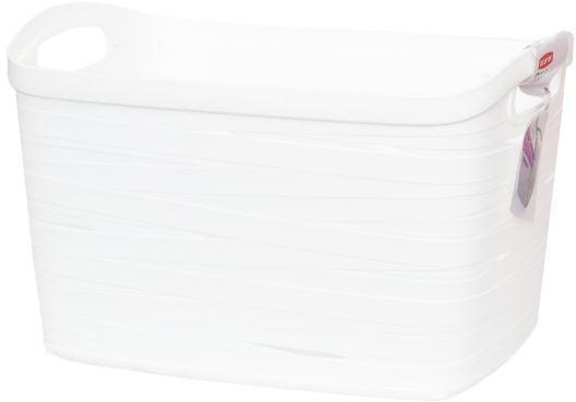 Корзина универсальная Curver Ribbon, цвет: белый, 38 x 29 x 24 смU210DFУниверсальная корзина Curver Ribbon изготовлена из высококачественного пластика. Стенки оформлены перфорацией.Корзина предназначена для хранения различных предметов в ванной, на кухне, на даче или в гараже. Позволяет хранить мелкие вещи, исключая возможность их потери. Изделие оснащено удобными ручками по бокам.