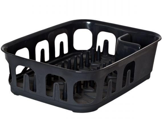 Сушилка для посуды Curver Essentials, цвет: темно-серый, 39 х 29 х 10,1 смВетерок 2ГФСушилка Curver Essentials, выполненная из прочного пластика. Сушилку можно установить в любом удобном месте. На ней можно разместить большое количество предметов. Вместительные размеры и оригинальный дизайн выделяют эту сушку из ряда подобных.