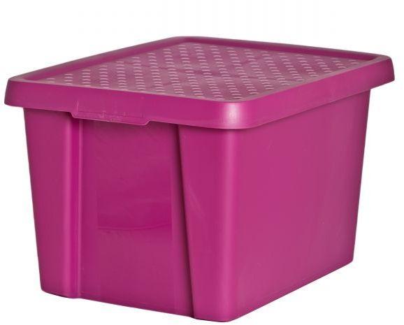 Коробка для хранения Curver Essentials, с крышкой, цвет: темная фуксия, 26 л98299571Коробка для хранения Curver Essentials выполнен из высококачественного пластика. Она идеально подойдет для хранения вещей дома, на даче или в гараже. Изделие оснащено крышкой и двумя эргономичными ручками для переноски. Контейнер Essentials очень вместителен и поможет вам хранить все необходимые вещи в одном месте.Объем коробки: 26 л.Размер коробки (с учетом крышки): 44 х 34 х 27 см.