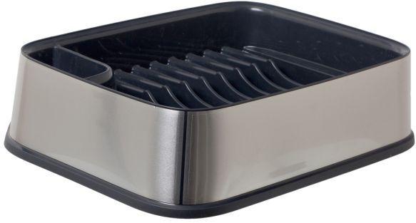 Сушилка для посуды Curver Premium, цвет: серебристый, черный, 29,5 х 39,5 х 10 смВетерок 2ГФСушилка для посуды Curver Premium изготовлена из высококачественного прочного пластика. Изделие оснащено пластиковым поддоном для стока воды и содержит секции для вертикальной сушки посуды и столовых приборов. Сушилка для посуды Curver Premium не займет много места на кухне и поможет аккуратно хранить вашу посуду