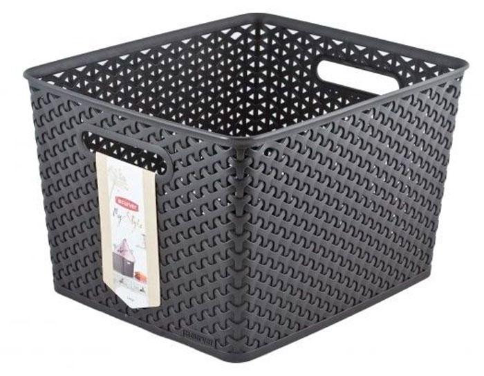 Коробка для хранения Curver My Style, цвет: темно-коричневый, 18 л03612-210-00Коробка для хранения Curver My Style выполнена из высококачественного пластика. Специальные отверстия на стенках создают идеальные условия для проветривания. Изделие оснащено двумя эргономичными ручками для переноски. Коробка очень вместительная и поможет вам хранить все необходимые мелочи в одном месте.Объем коробки: 18 л.Размер: 35 х 30 х 22 см.