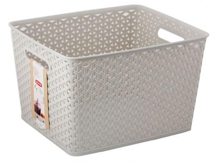 Коробка для хранения Curver My Style, цвет: кремовый, 18 л03612-885-00Коробка для хранения Curver My Style выполнена из высококачественного пластика. Специальные отверстия на стенках создают идеальные условия для проветривания. Изделие оснащено двумя эргономичными ручками для переноски. Коробка очень вместительная и поможет вам хранить все необходимые мелочи в одном месте.Объем коробки: 18 л.Размер: 35 х 30 х 22 см.