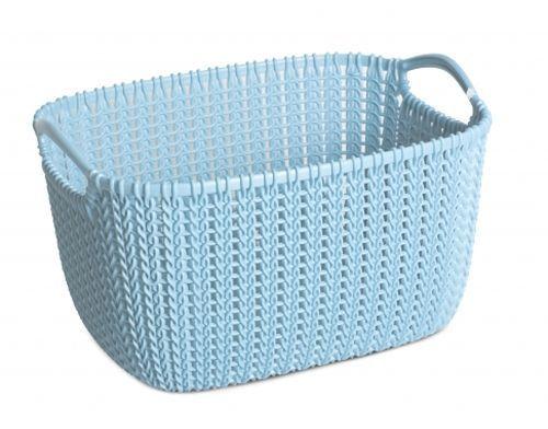 Корзина универсальная Curver Knit, цвет: морская волна, 19 лRG-D31SУниверсальная корзина Curver Knit изготовлена из высококачественного пластика и декоративной перфорацией под плетение. Для дополнительного удобства корзина имеет удобные ручки. Такая корзина непременно пригодится в быту, в ней можно хранить кухонные принадлежности, специи, аксессуары для ванной и другие бытовые предметы.