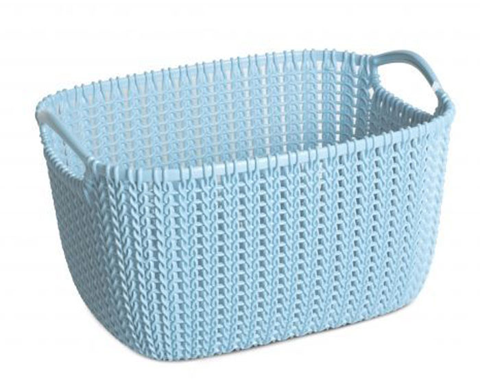 Корзина универсальная Curver Knit, цвет: морская волна, 8 л74-0120Универсальная корзина Curver Knit изготовлена из высококачественного пластика и оформлена декоративной перфорацией под плетение. Для дополнительного удобства корзина имеет удобные ручки. Такая корзина непременно пригодится в быту, в ней можно хранить кухонные принадлежности, специи, аксессуары для ванной и другие бытовые предметы.