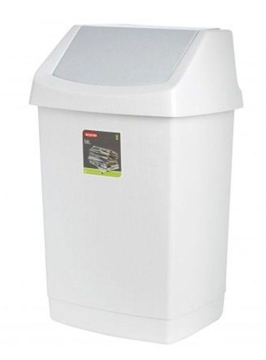 Контейнер для мусора Curver Клик-ит, цвет: светло-серый, 50 л68/5/3Контейнер для мусора Curver Клик-ит изготовлен из прочного пластика. Контейнер снабжен удобной съемной крышкой с подвижной перегородкой. В нем удобно хранить мелкий мусор. Благодаря лаконичному дизайну такой контейнер идеально впишется в интерьер и дома, и офиса.