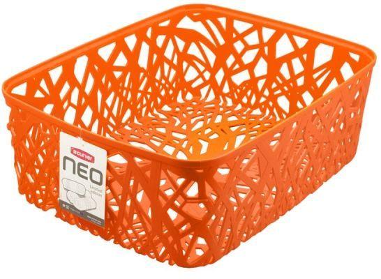 Корзина универсальная Curver Neo Colors, цвет: оранжевый, 37,7 x 29 x 12,7 см1004900000360Универсальная корзина Curver Neo Colors изготовлена из высококачественного пластика. Стенки и дно изделия оформлены изящной перфорацией.Корзина предназначена для хранения различных предметов в ванной, на кухне, на даче или в гараже. Позволяет хранить мелкие вещи, исключая возможность их потери.