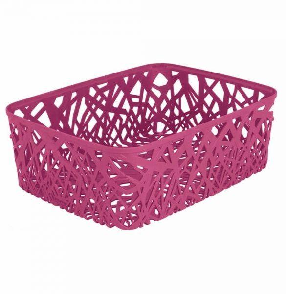 Корзина универсальная Curver Neo Colors, цвет: фуксия, 37,7 x 29 x 12,7 см74-0140Универсальная корзина Curver Neo Colors изготовлена из высококачественного пластика. Стенки и дно изделия оформлены изящной перфорацией.Корзина предназначена для хранения различных предметов в ванной, на кухне, на даче или в гараже. Позволяет хранить мелкие вещи, исключая возможность их потери.