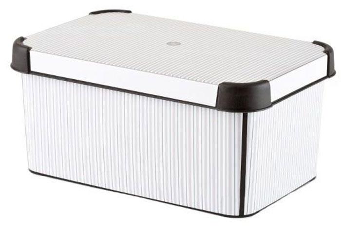 Коробка для хранения Curver Stockholm. Classico, 6 лU210DFКоробка Curver Stockholm. Bamboo, выполненная из высококачественного пластика, предназначена для хранения различных вещей. Изделие оформлено оригинальным принтом. Коробка оснащена крышкой. Изящный дизайн коробки впишется в любой интерьер. Декоративная коробка поможет хранить все в одном месте, а также защитить вещи от пыли, грязи и влаги.