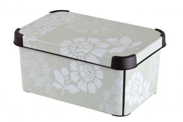 Ящик для хранения Curver Стокгольм. Romance, цвет: серый,6 л1004900000360Ящик для хранения Curver Стокгольм. Romance, цвет: серый,6 л