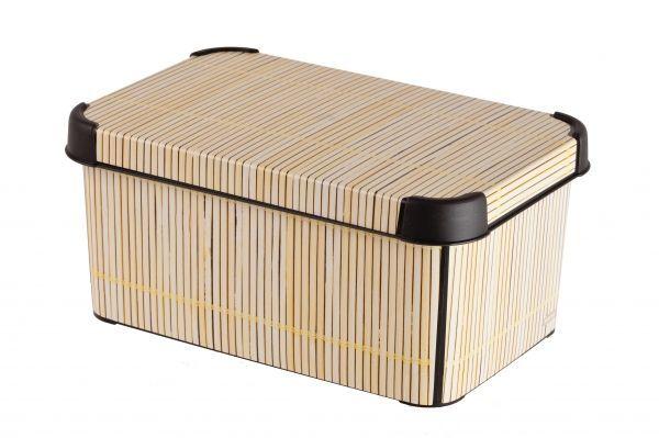 Коробка для хранения Curver Stockholm. Bamboo, 6 лV30 AC DCКоробка Curver Stockholm. Bamboo, выполненная из высококачественного пластика, предназначена для хранения различных вещей. Изделие оформлено принтом под дерево. Коробка оснащена крышкой. Изящный дизайн коробки впишется в любой интерьер. Декоративная коробка поможет хранить все в одном месте, а также защитить вещи от пыли, грязи и влаги.