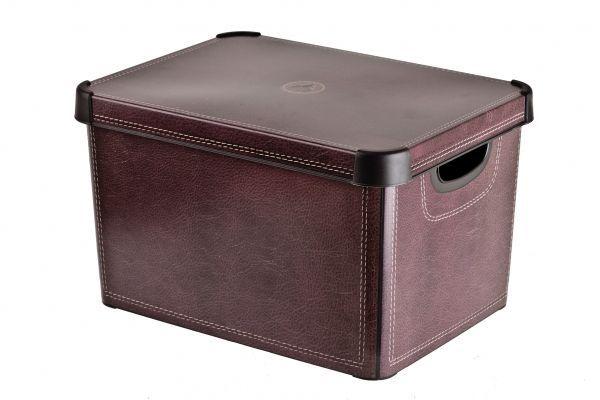 Коробка для хранения Curver Stockholm. Leather, 22 л25051 7_зеленыйКоробка Curver Stockholm. Leather, выполненная из высококачественного пластика, предназначена для хранения различных вещей. Изделие оформлено принтом под кожу. Коробка оснащена крышкой удобными ручками. Изящный дизайн коробки впишется в любой интерьер. Декоративная коробка поможет хранить все в одном месте, а также защитить вещи от пыли, грязи и влаги.