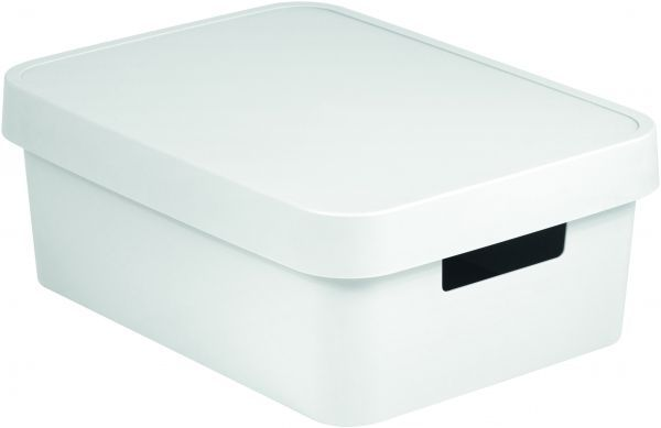 Коробка для хранения Curver Infinity, с крышкой, цвет: белый, 11 лV30 AC DCКоробка для хранения Curver Infinity изготовлена из высококачественного пластика. Идеально подходит для хранения мелочей для ванной и различных бытовых вещей. Изделие оснащено крышкой и удобными ручками по бокам.